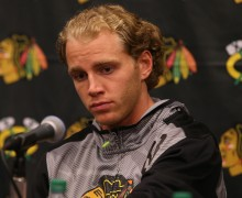 "Patrick Kane speaks to the media at a press conference before the start of Blackhawks training camp at the University of Notre Dame's Compton Family Ice Center in South Bend, Ind., Sept. 17, 2015.  Kane spoke publicly for the first time since his involvement in an alleged sexual assault, saying:  ""I am confident once all facts come to light I will be absolved.''  (Antonio Perez/Chicago Tribune)"